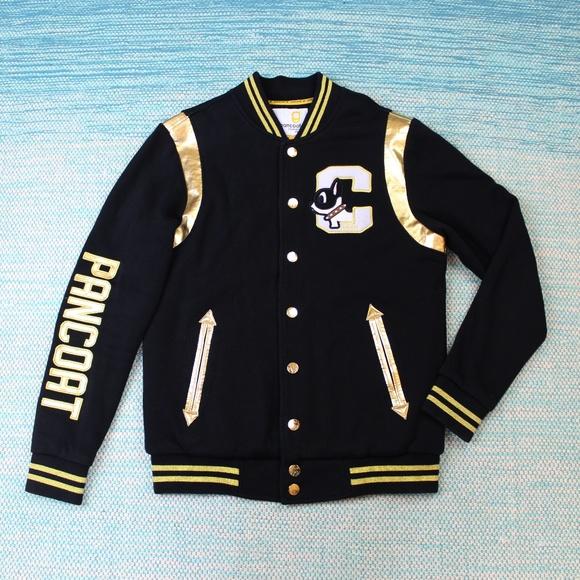 654677f5aa2 Pancoat Black Gold Varsity Jacket French Bulldog. M_5afd984b50687c80c5f4ab3d